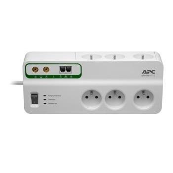 APC Přepěťová ochrana - 6 zásuvek (230V), Ochrana - Telefonní a TV/coax linky